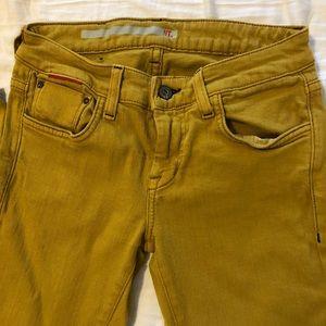 Mustard Cropped Ankle Jean